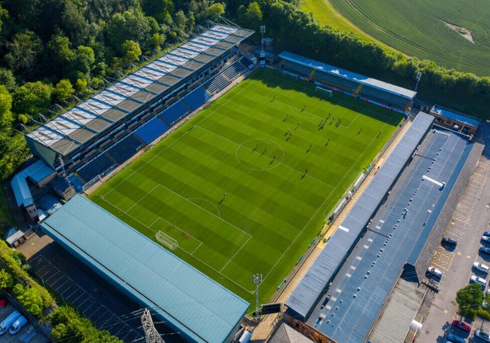 General aerial view during the Wycombe Wanderers FC training session at Adams Park, High Wycombe, England on 26 June 2020. Photo by David Horn.